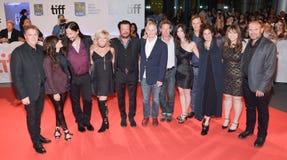 Директоры, диапазон-ответные части и производители на TIFF17 для ` долгого времени ` идущего давают премьеру, трагично бедро Стоковые Фото