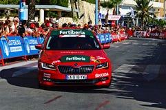 Директоры 2016 Vuelta Espana Skoda Ла Автомобиль стоковое изображение