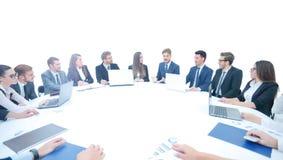 Директор финансов делает отчет на рабочей сессии Стоковое Изображение RF
