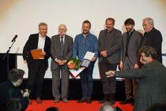 Директор Olivier Peyon 3 f L , с ценой получите цену на Internationales Filmfestival Мангейм-Гейдельберге 2017 Стоковое Фото