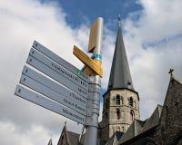 Дирекционный подпишите внутри Гент, Бельгию Стоковое Изображение