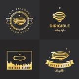 Дирижабельный набор вектора логотипа золота блимпа часть 2 бесплатная иллюстрация