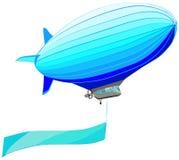 Дирижабль с знаменем флага, иллюстрацией вектора Стоковое Изображение