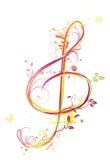 Дискантовый clef Стоковое Фото