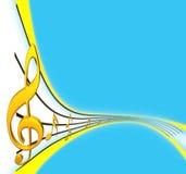 Дискантовый clef Стоковое Изображение