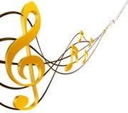 Дискантовый clef Стоковые Фотографии RF