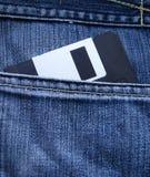 Дискет джинсыов карманный Стоковое фото RF
