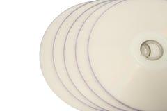 диски белые Стоковая Фотография RF