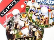 Диски видеоигры стоковые изображения rf