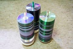 Диски компактного диска DVD Стоковое Изображение