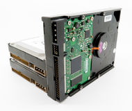 дисководы компьютера трудные Стоковые Фотографии RF