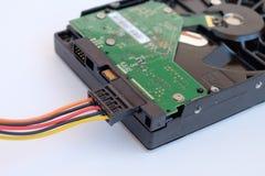Дисковод жесткого диска изолированный на белой предпосылке HDD Стоковые Изображения