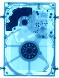 Дисковод жесткого диска под рентгеновскими снимками Стоковое Изображение RF