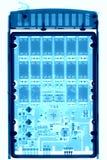 Дисковод жесткого диска под рентгеновскими снимками Стоковое фото RF