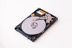 Дисковод жесткого диска HDD на белой предпосылке Стоковые Изображения