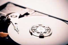 Дисковод жесткого диска HDD на белой предпосылке Стоковое Изображение RF