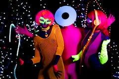 Диско зарева ультрафиолетовое неоновое partty Стоковая Фотография