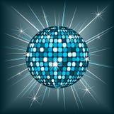диско сини шарика Стоковые Изображения