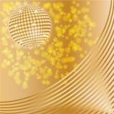 диско шарика золотистое Стоковые Фотографии RF