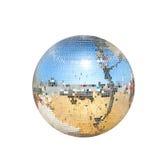 диско шарика изолированное над белизной Стоковая Фотография