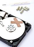 диск аварии компьютера помощи сперва крепко Стоковая Фотография RF