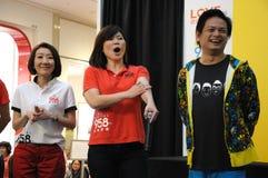 Диск-жокеи радиостанции Сингапура Mediacorp китайские Стоковая Фотография