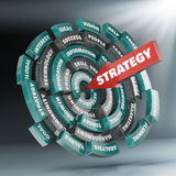 Диск и стрелка стратегии Стоковое фото RF