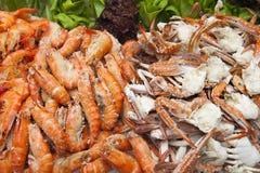 Диск партии продуктов моря Стоковое Фото