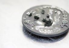 Диск после резать кроны зуба зубоврачебные созданные на принтере 3d для металла Стоковое Изображение RF