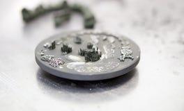 Диск после резать кроны зуба зубоврачебные созданные на принтере 3d для металла Стоковые Фото