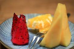 диск свежих фруктов Стоковые Фото