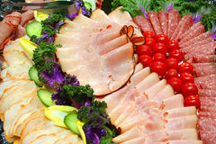 диск холодного мяса стоковые изображения rf