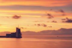 Диспетчерская вышка навигации в море Стоковая Фотография RF
