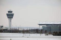 Диспетчерская вышка на авиапорте Мюнхена Стоковое Изображение RF