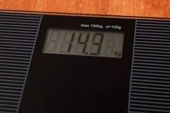 Дисплей веса цифров Стоковые Изображения RF