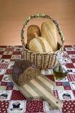 дисплей вырезывания хлеба доски Стоковое Изображение RF