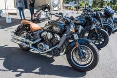 Дисплей индийских мотоциклов стоковое фото rf