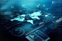 Дисплей информационной технологии информации в интернете стоковая фотография rf