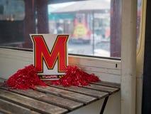 Дисплей и украшения университета Мерилендаа Стоковое Фото