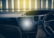 Дисплей консоли и монитора, аудио, технология кондиционера воздуха в автомобиле Стоковые Изображения RF