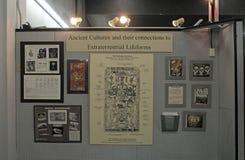 Дисплей музея аутопсии чужеземца стоковое изображение