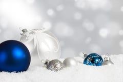 Дисплей орнамента рождества Стоковая Фотография