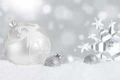 Дисплей орнамента рождества Стоковое Изображение RF