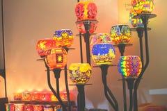 Дисплей светов свечи стоковые изображения rf
