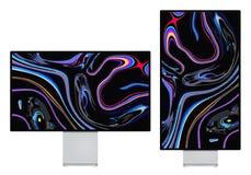 Дисплей сетчатки 6K xdr монитора стоковые фотографии rf