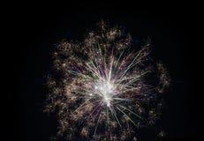 Дисплей фейерверков стоковые изображения rf
