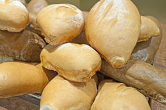 Дисплей хлеба на шведском столе гостиницы Стоковые Фото