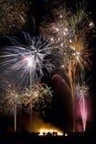 Дисплей 5-ого ноября - Англия феиэрверка Стоковые Фотографии RF