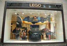 Дисплей витрины эго в центре Рокефеллер в центре города Манхаттане Стоковое Изображение