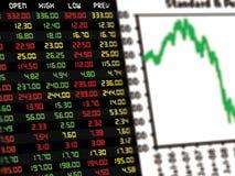 Дисплей ежедневной фондовой биржи Стоковое фото RF